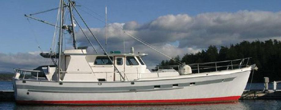 58 39 bill garden pilothouse inside passage yacht for Garden design trawler boat